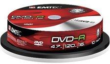 Emtec DVD-R 4,7GB 120min 16x 10er Spindel