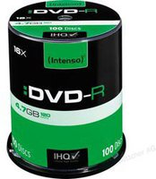 Intenso GmbH DVD-R 4,7GB 120min 16x 100er Spindel