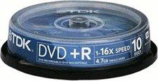 TDK DVD+R 4,7GB 120min 16x 10er Spindel