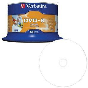 Verbatim DVD-R 4,7GB 16x Wide Inkjet bedruckbar 50er Spindel