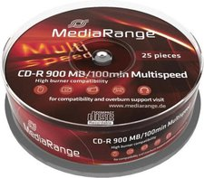 MediaRange CD-R 900MB 100min Multispeed 25er Sp...