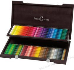 Faber-Castell Farbstifte Polychromos 120er Holzkoffer