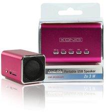 König Electronic Portable USB Speaker 2X3 W rosa