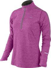 Nike Element mit Kurzreißverschluss Frauen Laufshirt