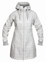 Bergans Vika Lady Coat Black / Solid DkGrey Check