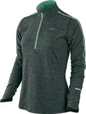 Nike Element mit Kurzreißverschluss Frauen Laufshirt grau