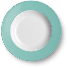 Dibbern Solid Color türkis Suppenteller 23 cm tief