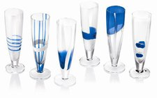 Guzzini Table Art Sektglas blau 6er Set