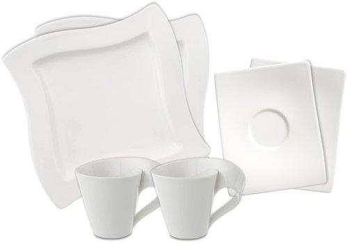 Villeroy & Boch NewWave Kaffeeservice quadratisch 18 tlg.