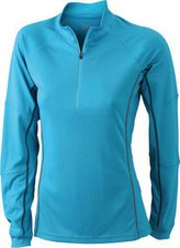 James & Nicholson Ladies' Running Reflex Shirt JN426 türkis