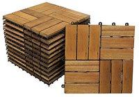 SAM (Stil-Art-Möbel) Holzfliese 01 Akazie geölt