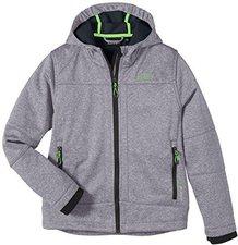 CMP Campagnolo Boys Softshelljacket Fix Hood (3A00094) Grey Mel.-Grey