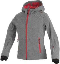 CMP Campagnolo Girls Softshell Jacket Fix Hood Grey Mel.-Grey