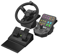 Saitek Landwirtschafts-Simulator Lenkrad + Pedaleinheit + Fahrzeugseitenkontrolle