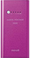 Maxell Rechargeable Powerbank 2800mAh pink