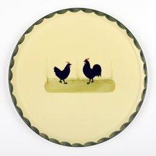 Zeller Keramik Tortenplatte Hahn und Henne