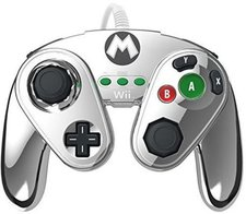 Pelican Wii U Wired Fight Pad (Mario Metal)