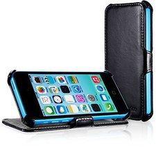EasyAcc Protection PU Leder Flip Bumper schwarz (iPhone 5c)