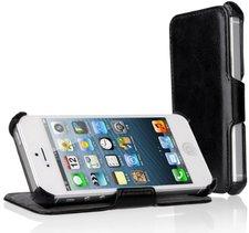 EasyAcc Protection PU Leder Flip Bumper schwarz (iPhone 5s)