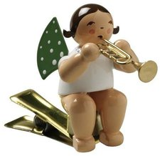 Wendt & Kühn Engel mit Trompete auf Klemme