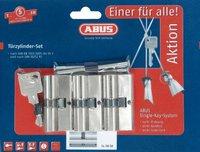 Abus Doppelzylinder 3er Set mit 4 Schlüsseln (104398)