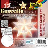 Folia Bascetta SternSet Transparent weiß 15x15 cm