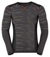 Odlo Blackcomb Evolution Warm Shirt l/s Men concrete grey / black / cherry tomato