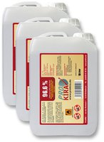 ProKira Brennpaste 96,6% Ethanol 3 x 10 Liter