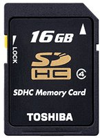Toshiba SDHC HighSpeed Card 16GB Class 4