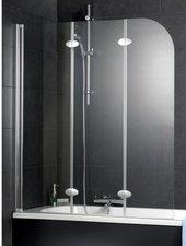 Schulte Komfort Badewannenaufsatz 3-tlg. 125 x 140 cm (Typ D3354)