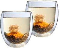 Feelino Thermo-Glas Ice-Bloom inkl. Teeblume 400 ml 2er Set
