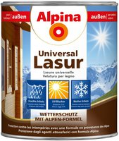 Alpina Farben Universal Holzlasur Teak 4 Liter (843855)
