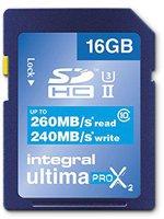 Integral UltimaPro X2 SDHC 260/240MB UHS-II U3 - 16GB