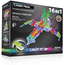 Laser Pegs Space Fighter 16 in 1