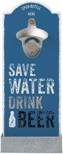 StiefelmayerContento Wandflaschenöffner Save Water