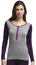 Icebreaker Oasis Long Sleeve Hood Women metro heather / vino / vivid