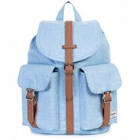 Herschel Dawson Backpack chambray crosshatch/tan synthetic leather