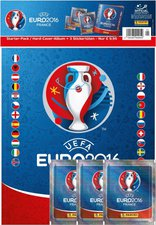 Panini UEFA Euro 2016 Hardcover Album + 3 Stickertüten