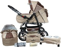 Bergsteiger-Kinderwagen Rio Coffee & Brown