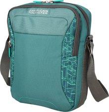 American Tourister Road Quest Crossover Bag sea green print