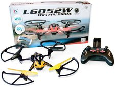 Aircraft L6052W Wifi FPV Quadrocopter Gelb