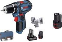 Bosch GSR 10,8-2-Li Professional 2 x 4.0 + 1 x 2,0 Ah + Tasche (0 615 990 HA1)