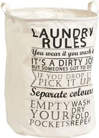Zeller Laundry Rules Canvas (14260)
