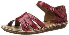 Clarks Tustin Sahara red leather