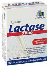 Avitale Lactase 7.000 FCC Tabletten im Spender (80 Stk.)