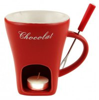 Nouvel Schokoladenfondue-Set Tasse rot