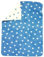 Alvi Baumwolldecke UV 50+ Sterne Blau