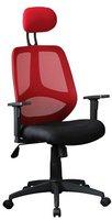 Amstyle Florenz 2 Chefsessel rot/schwarz
