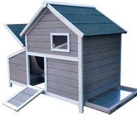 Elmato Hühnerhaus Paula grau/weiß (11031)