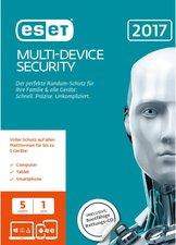 ESET Multi Device Security 2017 (DE) (Win/Mac/Linux) (5 Geräte) (1 Jahr) (FFP)